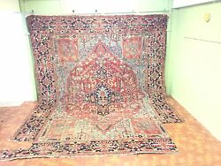 Very Large Antique Herize  Rug. 16 X 13