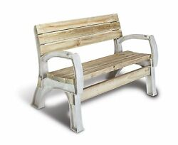 Chair Bench Ends Kit Seat Sit Outdoor Patio Garden Furniture Durable Resin Frame