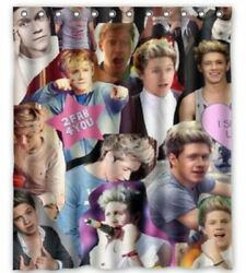 nice design 1D One Direction Niall Horan Collage shower curtain size 60x72 inch