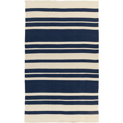 Picnic PIC-4006 Blue Striped Outdoor Rug
