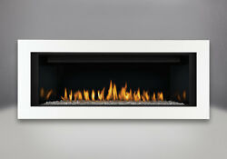 CLHD45N Continental Linear Fireplace with White Surround As Pictured