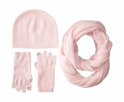Sofia Cashmere Women's Gift Box Set-Hat Smartphone Gloves and Infinity Scarf