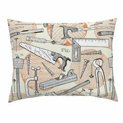 Work Tools Wood Birthday Log Woodshop Tree Pillow Sham by Roostery