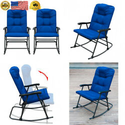 SunLife Folding Rocking Chair Lounge Patio Chairs Outdoor Yard Beach with...