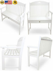 Trex Outdoor Furniture TXB60CW 60-Inch Yacht Club Bench Classic White