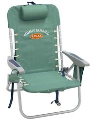 Summer Portable Folding Beach Chair Deluxe Lace Up Design With Backpack Straps