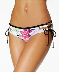 NEW BAR III Tropical Cutout Tie Sides Hipster Bikini Bottom M Medium $9.59