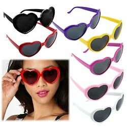 Vintage Retro Fashion Lolita Heart Shaped Aviator Black Frame Women Sunglasses X $5.98