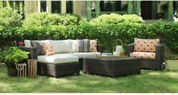 AE Outdoor Biscayne Patio Deep Seating Set With Sunbrella Biscayne Cushions