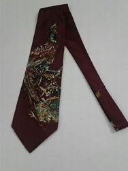 Field & Stream Hunting Field Pheasant Imported Silk Made In USA Tie Necktie #28