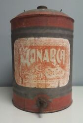 Great Large Vintage MONARCH Oil Can with Spout 13quot; $399.00