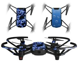Skins 2X for DJI Tello Drone Electrify Blue DRONE NOT INCLUDED $10.95