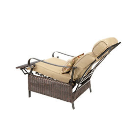 Tan Wicker Steel Frame Better Homes and Gardens Outdoor Patio Recliner wCushion