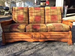 Antique couch for cabin decor