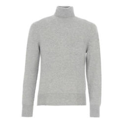 TOM FORD Cashmere Turtleneck Sweater M  50EU Light Gray Made in Italy