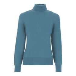 TOM FORD Cashmere Turtleneck Sweater L  52EU Steel Blue Made in Italy