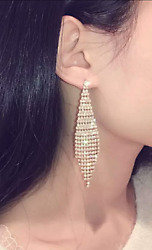 BLING CHANDELIER RHINESTONE EARRINGS SILVER GOLD DANGLE CRYSTAL PARTY STUD EA158 $29.99