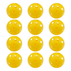 12 of Yellow Training Practice Plastic Baseballs. Airflow Hollow Softballs $9.99