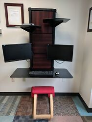 Ultra modern atlantic evo wall desk with monitor arm  $120.00