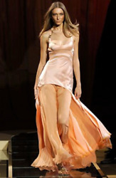 GIANNI VERSACE VINTAGE SS05 RUNWAY SEXY Plunging Dress Gown Sz 42 ICONIC!!!