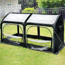 Small Greenhouse Fiberglass Mini Portable Green House Waterproof UV Protection