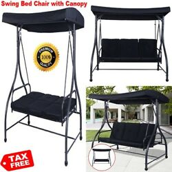 Swing Cushion Adult Bed with Canopy for Outdoor Outside Porch Patio Furniture US