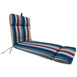 Set 2Pc Cushion Chaise Outdoor Lounge Patio Chair Striped Replacement Seat New