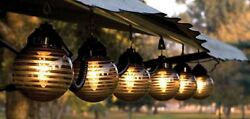 RV Patio Lights Outdoor String Patio Hanging 6 Globe Black Bronze Party Deck