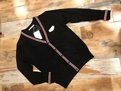 Givenchy Mens Black Iconic Band Cardigan Sweaters Size 52 Brand New RRP £650