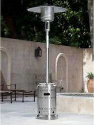 Stainless Steel Commercial Patio Heater 46000 Btu Propane Gas Outdoor Fire Sense