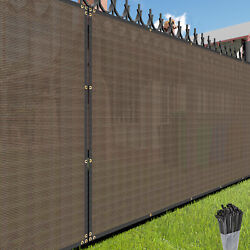 Custom 4 Feet Tall Brown Privacy Fence Screen Cover Mesh Garden Yard Commercial