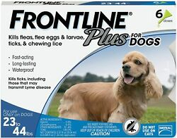 Frontline Plus for Medium Dogs 23 44 lbs. 6 Doses flea and tick treatment $49.99