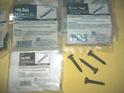 LAG BOLTS SCREWS HARDWARE ATTACH FITTING FLANGE 2 WOOD SURFACE IRON POST RAILING