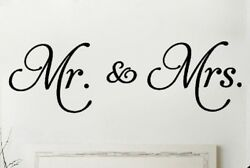 MR. AND MRS. Couple Wall Words Lettering Quote Decal Sticker Rustic Decor $15.95