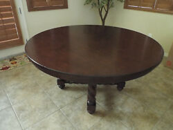 (Pre DREXEL) POSTOBELLO Dining Table with Leaf Round Oval Barely Used