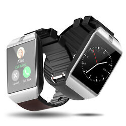 Newest! DZ09 Bluetooth Smart Watch+Camera SIM For HTC Samsung Android Phone*USA*