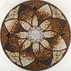 55'' Marble Dining Table Top Marquetry Inlay Patio Intricate Fancy Design H3923A