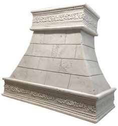 Stone Range Hood - Any SizeColor - CAPPED FLORENCE - Easy Install Samples