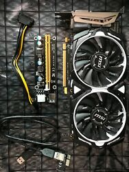MSI RX470 4GB Video Card & PCI-E 1X-16X RISER USB3 & POWER CABLE - $600