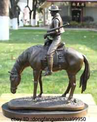 Western Bronze Copper Marble Home Decoration Rider Knight Horse Sculpture Statue