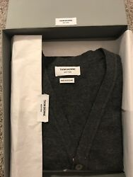 Thom browne Cardigan Cashmere Dark Gray Men's Size 3