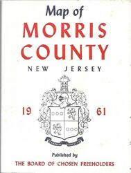 Official 1961 Freeholders Road Map MORRIS COUNTY New Jersey Dover Chatham Butler