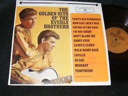 THE GOLDEN HITS OF THE EVERLY BROTHERS Warner Stereo Banner Orignl LP Gold Label $6.00