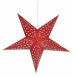 Quasimoon 24quot; Solid Red Cut Out Paper Star Lantern Hanging Decoration by Pap... $8.55