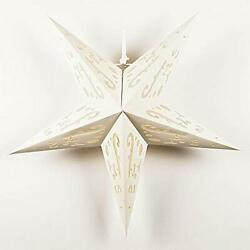24quot; Solid White Random Cut Out Paper Star Lantern Hanging Decoration $6.70
