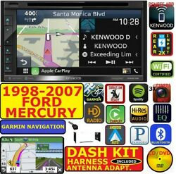 1998-07 FORD MERCURY KENWOOD GARMIN NAV CARPLAY ANDROID AUTO BLUETOOTH STEREO