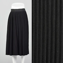 S 1950s Black Crystal Pleat Skirt Separates Day Wear Evening Classic Chic 50s $51.00