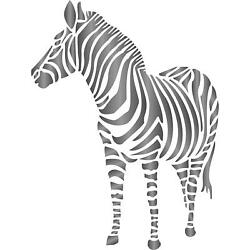 Zebra Stencil Reusable Wall For Painting Best Quality Decor Ideas Use On Walls $11.14