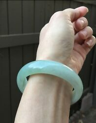 ~57MM Certified Grade A Icy Apple Green Jadeite Bangle