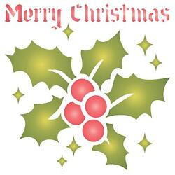 Christmas Holly Stencil Reusable Painting Template Furniture Fabric Floor Glass $8.08